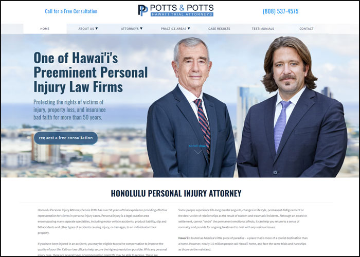 Dennis Potts Law - BenchMark Website Design   BenchMark